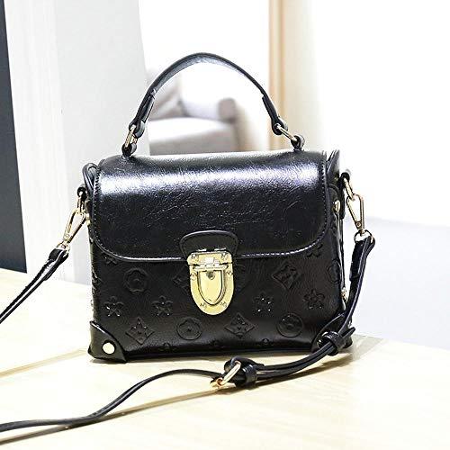 Maerye Borsa a tracolla singola vintage colore solido blocco di metallo borsa femminile B