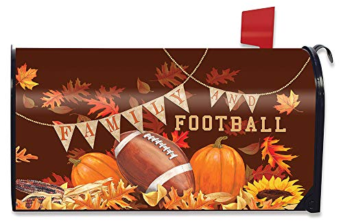 (Briarwood Lane Family & Football Magnetic Mailbox Cover Sports Autumn Standard)