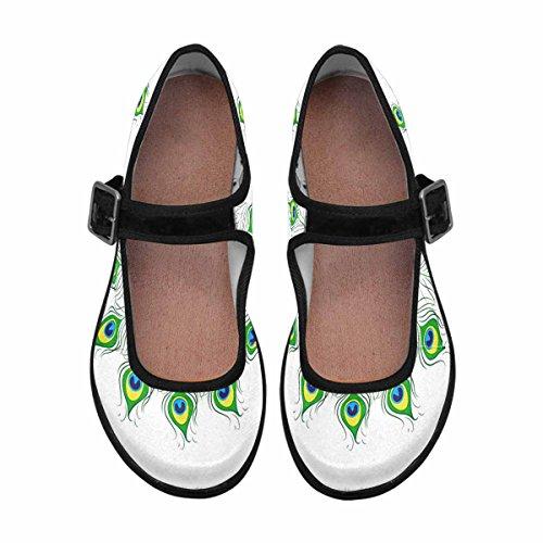 Shoes Flats Womens Walking Multi Casual Mary Jane Comfort InterestPrint 10 RnxvR