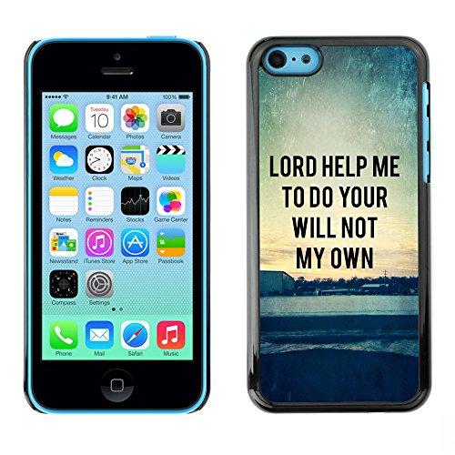 DREAMCASE Citation de Bible Coque de Protection Image Rigide Etui solide Housse T¨¦l¨¦phone Case Pour APPLE IPHONE 5C - LORD HELPE ME TO DO YOUR WILL