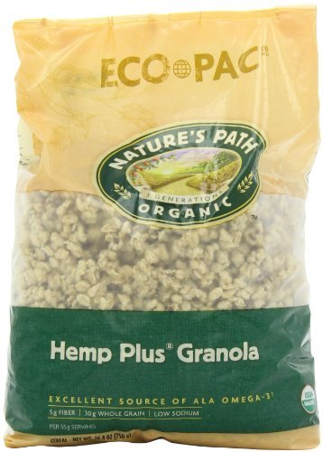 (Nature's Path Organic Hemp Plus Granola, 26.4-Ounce Bags (Pack of 6) by Nature's Path)