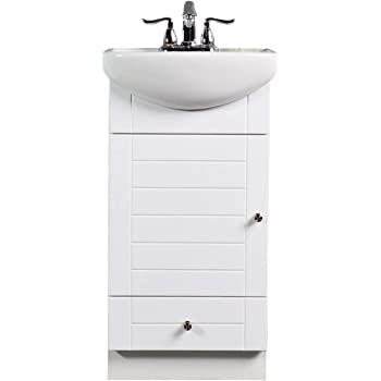 small bathroom vanity cabinet and sink white pe1612w new. Black Bedroom Furniture Sets. Home Design Ideas