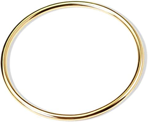 Jude Jewelers Stainless Steel Classical Simple Plain Polished Round Circle Bangle Bracelet