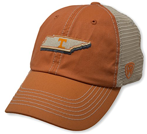 Top of the World NCAA Tennessee Volunteers Men's Elite Fan Shop Off Road Mesh Back Hat, Light -