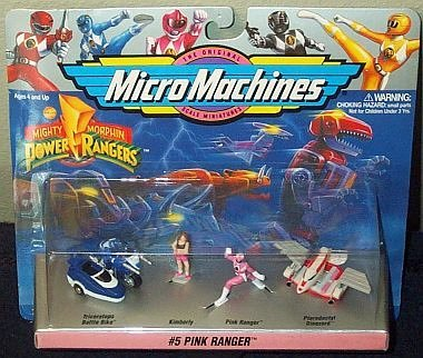 Mighty Morphin Power Rangers Pink Ranger Micro Machines C...