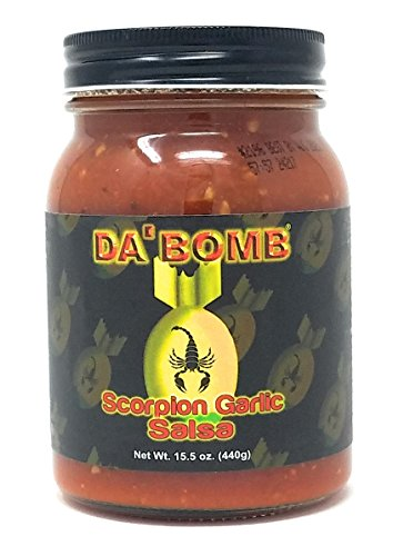 Da Bomb Scorpion Garlic Salsa - 15.5oz (Best Spicy Salsa Brand)