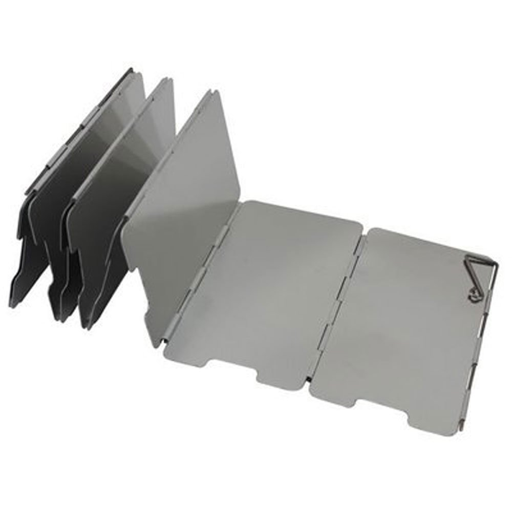 TENDUAGEN 9 placas de parabrisas plegable para camping cocina gas estufa aluminio parabrisas pantalla