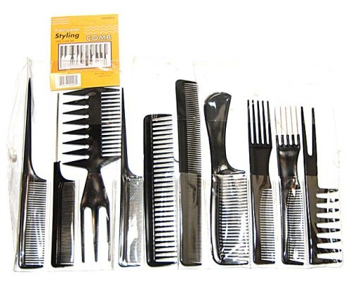 Professional Styling Comb (Magic 10 Piece Professional Styling Comb Set)