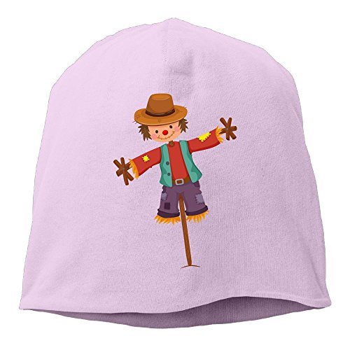 Fashion Solid Color Cute Scarecrow Strawman Love Watch Cap for Unisex Pink One - Magnesite Pink