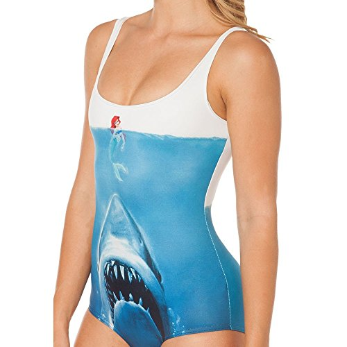 Sheoutfit Women's Hot Shark vs Mermaid One-Piece Swimsuit One Size Color9