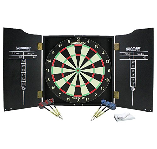Winmau Dartboard, Cabinet and Darts (330006744): Amazon.co.uk ...