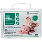 Ultra Soft Crib Mattress Protector Pad From Bamboo Rayon Fiber by Margaux & May -Waterproof Fitted Quilted Mattress Protector Pad for Your Crib. High Absorbency and Stain Protection Baby Cover Made for Superior Comfort.