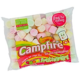 Campfire Marshmallows, Fruit Swirlers, Bite Size, 8oz (Pack of 3)