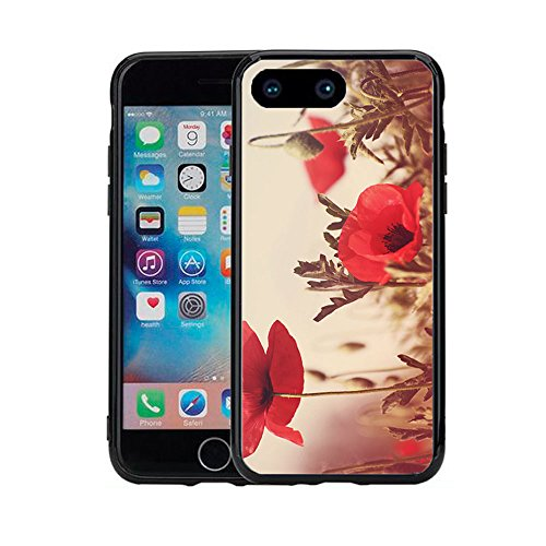 Price comparison product image Vintage Poppy Field Water Colors For Iphone 7 Plus (2016) & Iphone 8 Plus (2017) (5.5) Case Cover By Atomic Market