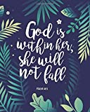 God Is Within Her, She Will Not Fall: 2020 Weekly & Monthly Planner