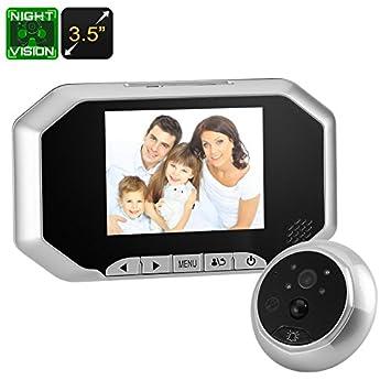 BW Smart Digital mirilla de puerta timbre – timbre de vídeo 720p, 1/4