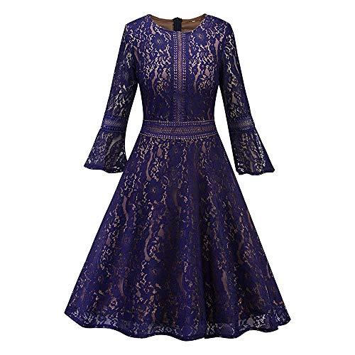 Hepburn Patrty Dress,Anboo Women Vintage Sleeve O Neck Eveni