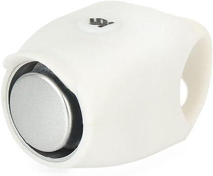 Y56 Bocina eléctrica para bicicleta – 120 db para manillar de ciclismo – 5 modos de sonido suave gel impermeable antipolvo Mini tamaño para bicicleta de montaña/bicicleta de carretera/BMX/MTB, color blanco: Amazon.es: