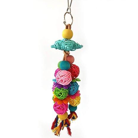 SYN Juguete para Masticar, decoración Colorida para periquitos ...