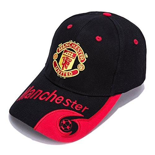 ab1bc5b96f0 DanielFelix Manchester United F.C. -Embroidered Authentic EPL Adjustable  Black Baseball Cap
