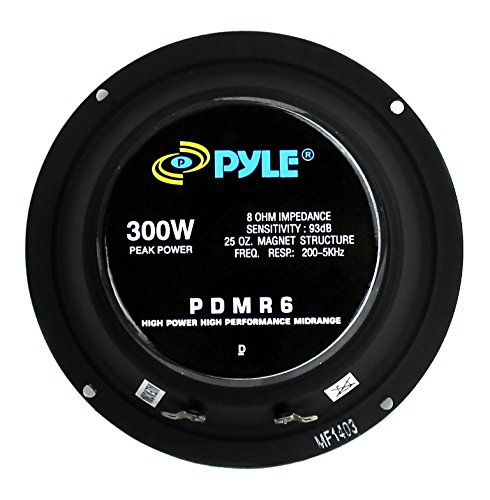 2) Pyle PDMR6 6.5'' 600W Car Mid Bass MidRange Woofer Audio Speakers 8 Ohm Black by Pyle (Image #4)