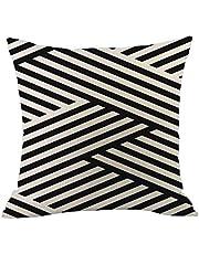 ZODRQ Pillow case,2019 New Geometric Cotton Linen Pillowcase Sofa Throwing Pad Set Home Decoration(C,45x45cm)