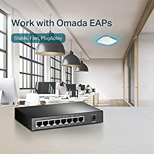 TP-Link 8-Port Giagbit PoE Switch, 4 POE ports, IEEE 802.3af, Max Output 53W (TL-SG1008P)