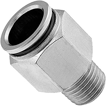 "Air Suspension System 2 Fittings 1//2/""NPT Male To 1//4/"" Air Hose Push In Air Bag"