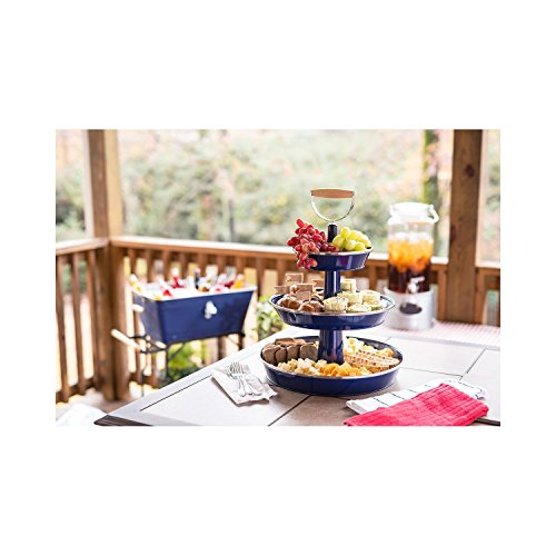 Blue 3 Tiered Serving Tray - 5