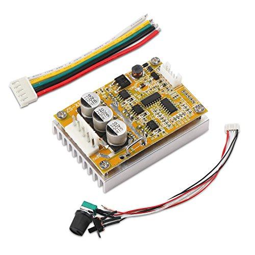 Motor Controller Circuit (DROK BLDC DC 5-36V Brushless Sensorless Motor Control Board Motor Driver Regulator Monitor 350W High Power DC Motor Speed Controller Module with Heat Sink, Control Switch)