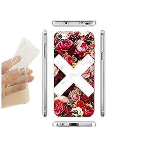 FUNDA CARCASA SLIM X FLOWERS PARA IPHONE 5 5S TPU