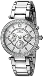 Invicta Women's 21386 Angel Stainless Steel Crystal-Accented Bracelet Watch