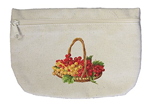 Canvas Pouch Zipper Makeup Bag Grapes Fruit Basket By Style In Print (Fruit Gift Baskets Tampa)