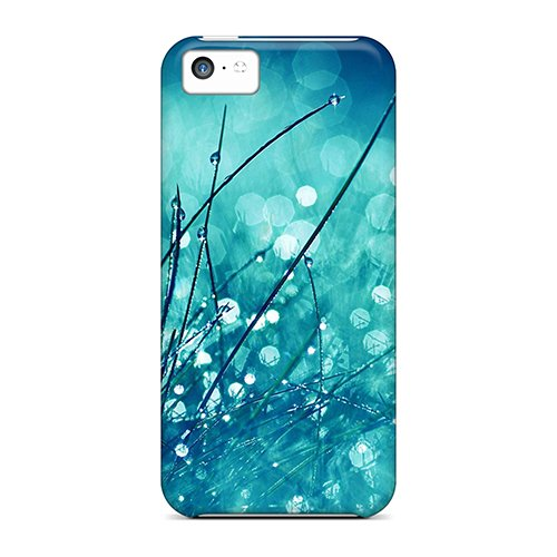 Price comparison product image For Iphone 5c Tpu Phone Case Cover(water Drops On Grass)