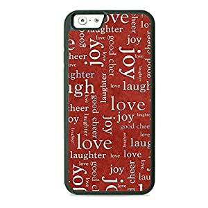 LJF phone case Case Fun Case Fun Christmas Messages TPU Rubber Back Case Cover for Apple iPhone 6 4.7 inch