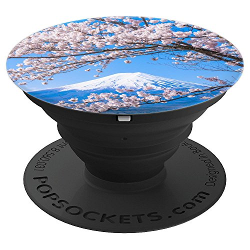 Cherry Blossom Flower Mount Fuji Mountain Japan Gifts - PopSockets Grip and Stand for Phones and ()
