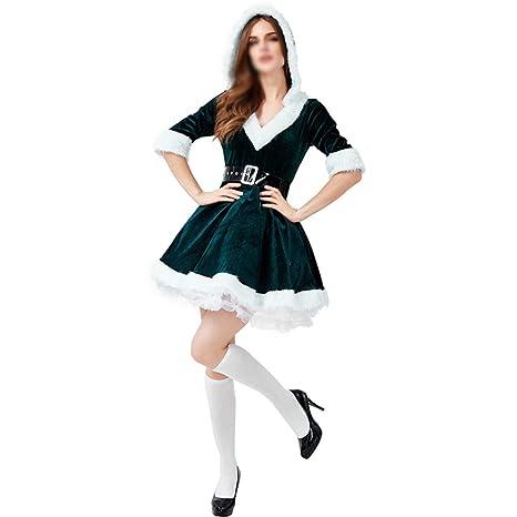 Disfraz De Navidad para Adultos, Falda Verde Oscuro para Mujer ...