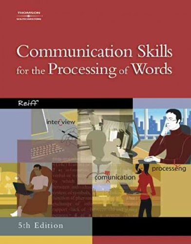 Communication Skills For The Processing Of Words PDF