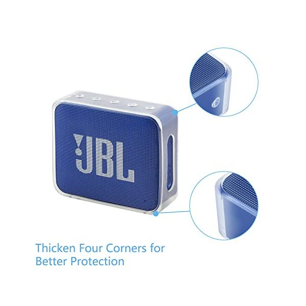 Pushingbest Carry Case for JBL GO Ultra Portable Rechargeable Bluetooth Speaker (GO 2- TPU) 3