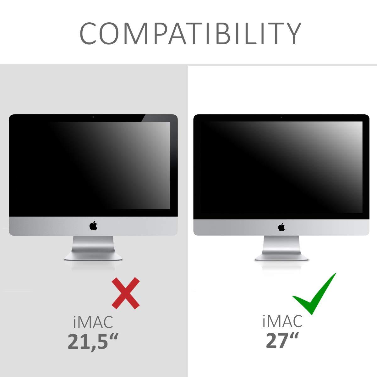 PC Bildschirm Schutzh/ülle f/ür Apple iMac 27 kwmobile Apple iMac 27 Computer Cover Case iMac Pro 27 iMac Pro 27 H/ülle