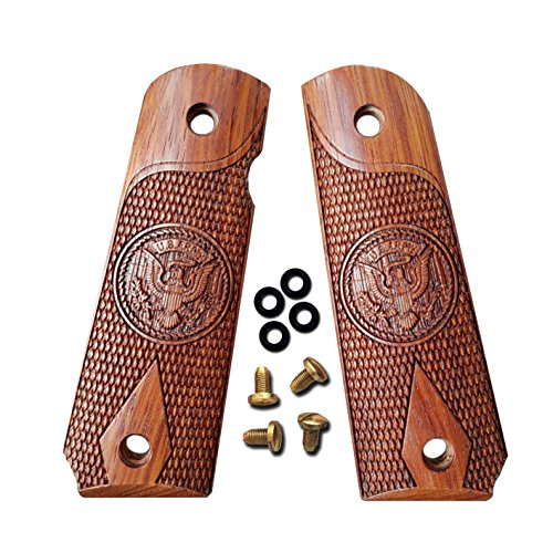 - 1911 Grips US Army Solid Wood Fits Full Size, Government, Commander Custom Grips Colt, Sig, Kimber, Springfield Rosewood