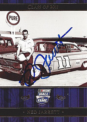 AUTOGRAPHED Ned Jarrett 2010 Press Pass Racing HALL OF FAME CLASS OF 2011 Legend Driver Insert Signed Collectible NASCAR Trading Card with COA