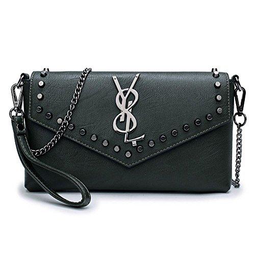 Aoligei Rivet sac à main sac Lady version coréenne chaîne sac à main cent filles sac poignet simple oblique petit sac à bandoulière F