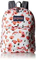 A one and only classic, the JanSport® SuperBreak® will fit all your necessities with ease. 600D Polyester gives you the durability that you desire. Padded shoulder straps for added comfort. One main compartment gives you the space that you need to or...