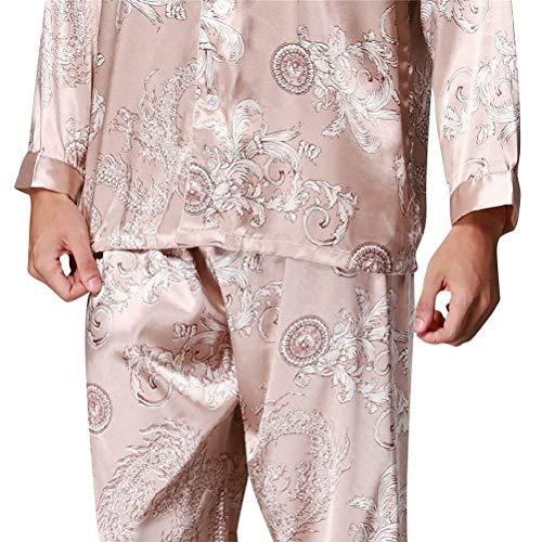 I Autunno Pigiama Saoye Pigiameria Due In Primavera Uomo Fashion Lungo Abito Khaki Pezzi Giovane Da 8Ban1BOxq