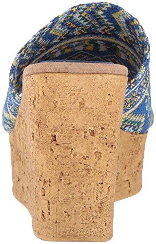 Blue Womens Multi Multi Salice Sbicca Sandal Wedge 0IxwBHq7