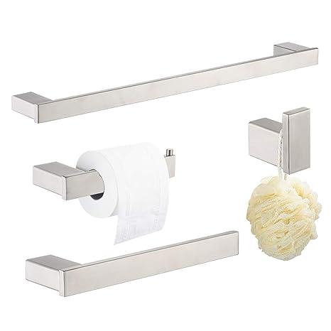 Amazon.com: Klabb Ss304 - Juego de accesorios para baño (4 ...