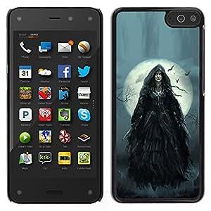 LECELL--Funda protectora / Cubierta / Piel For Amazon Fire Phone -- Luna la noche de Halloween Gris --