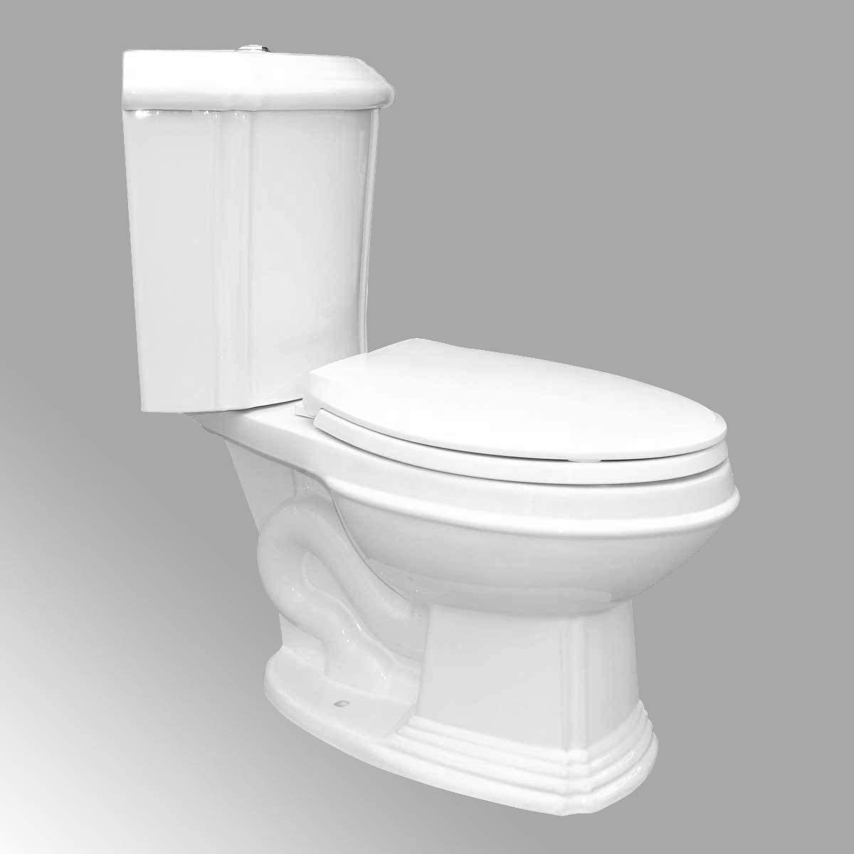 Renovator's Supply White Porcelain Elongated Space Saving Corner Toilet