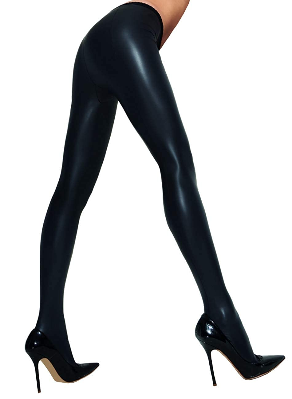 ca0b9d0ee Trasparenze Allen Leather Look Tights at Amazon Women s Clothing store